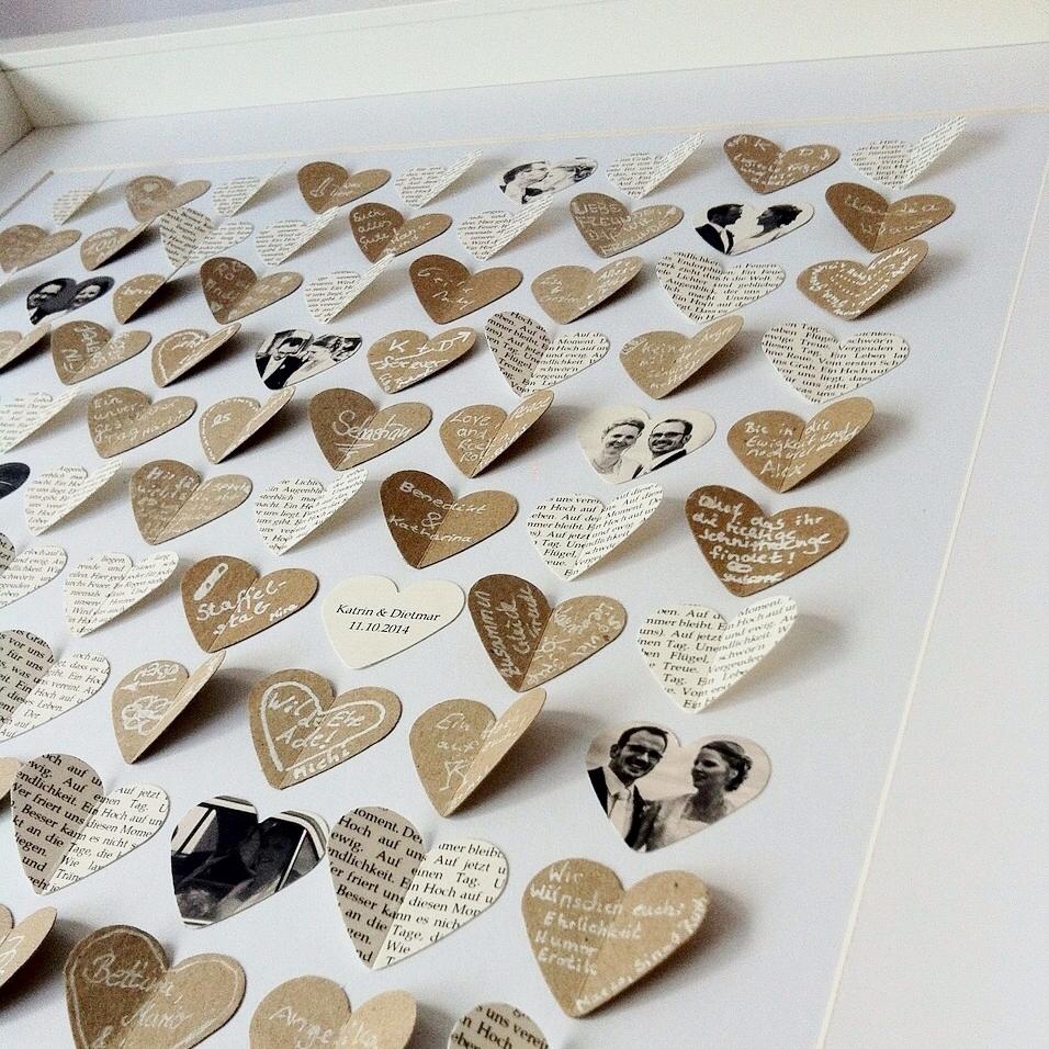 3D-Gästebücher - 3,6 cm Herzen