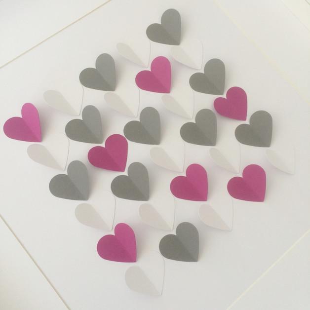 3D-Gästebücher - 5 cm Herzen