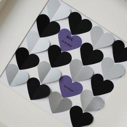 3D-Gästebücher - 7 cm Herzen