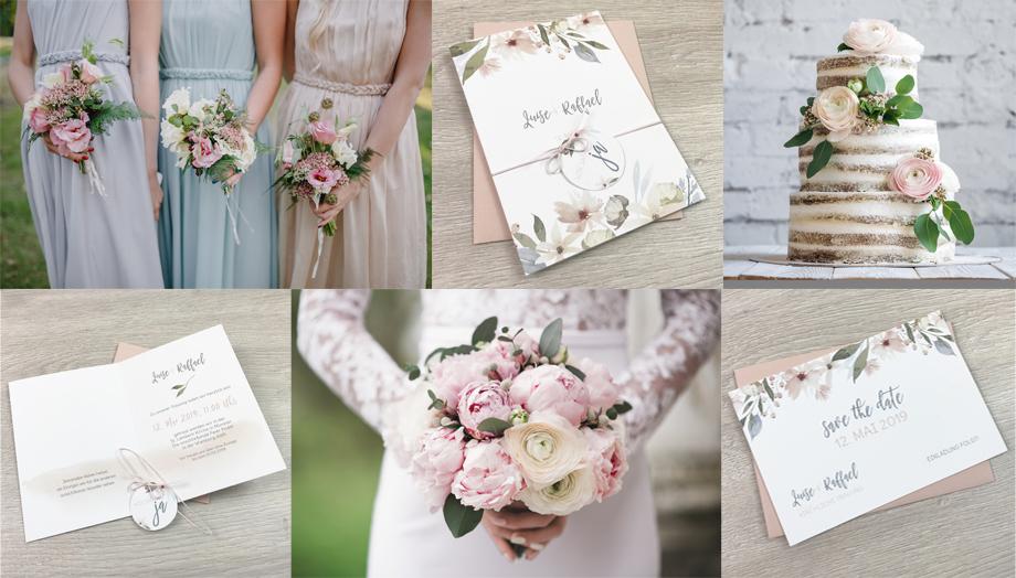 Serie 28 I Blush Pink - Blumen Pastell 2