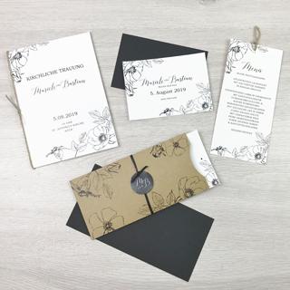 Serie 30 I Pocket Kraftpapier Blumen
