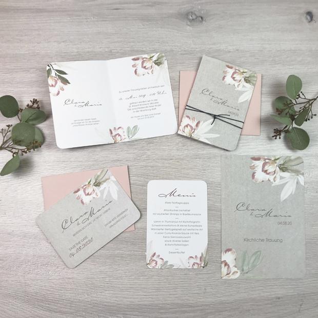 Serie 38 I Magnolien & Kraftpaper