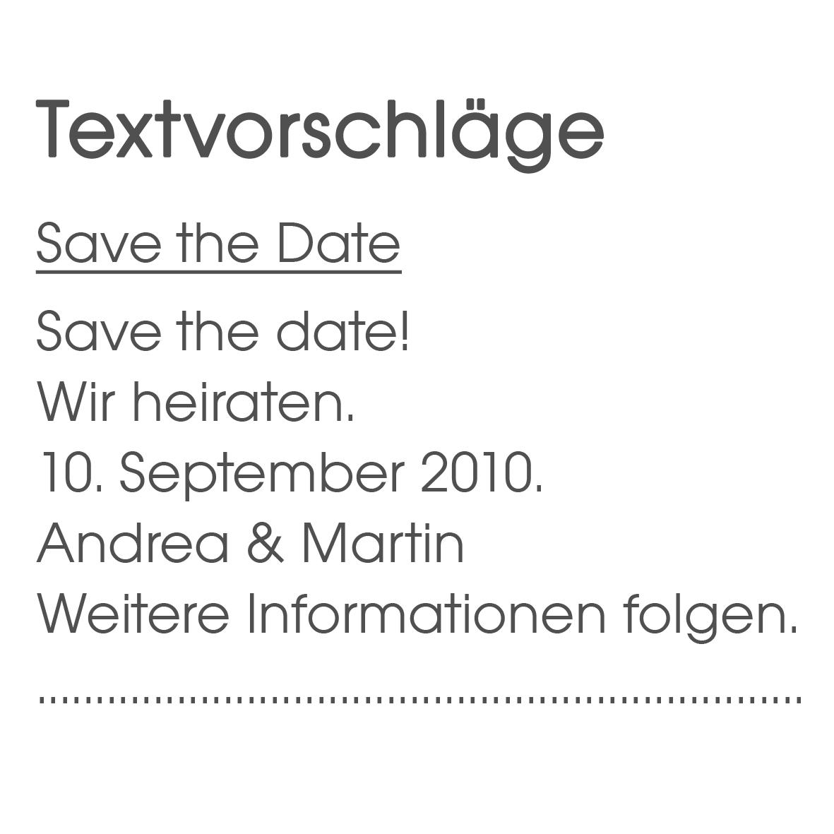 Textvorschläge