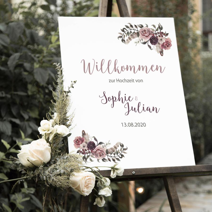 """Poster """"Willkommen"""" DIN A3 (36)"""