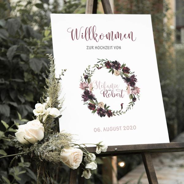 """Poster """"Willkommen"""" DIN A3 (40)"""