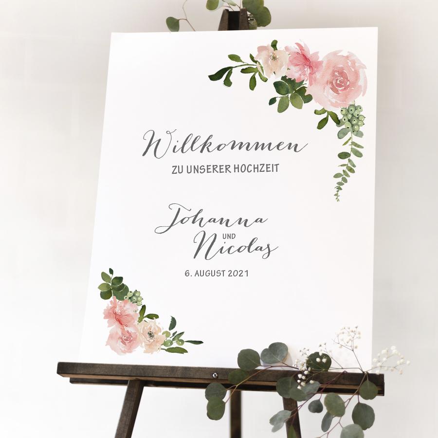 """Poster """"Willkommen"""" DIN A3 (50)"""