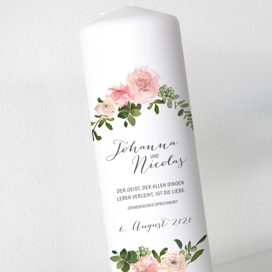 Hochzeitskerze - Blumen 50