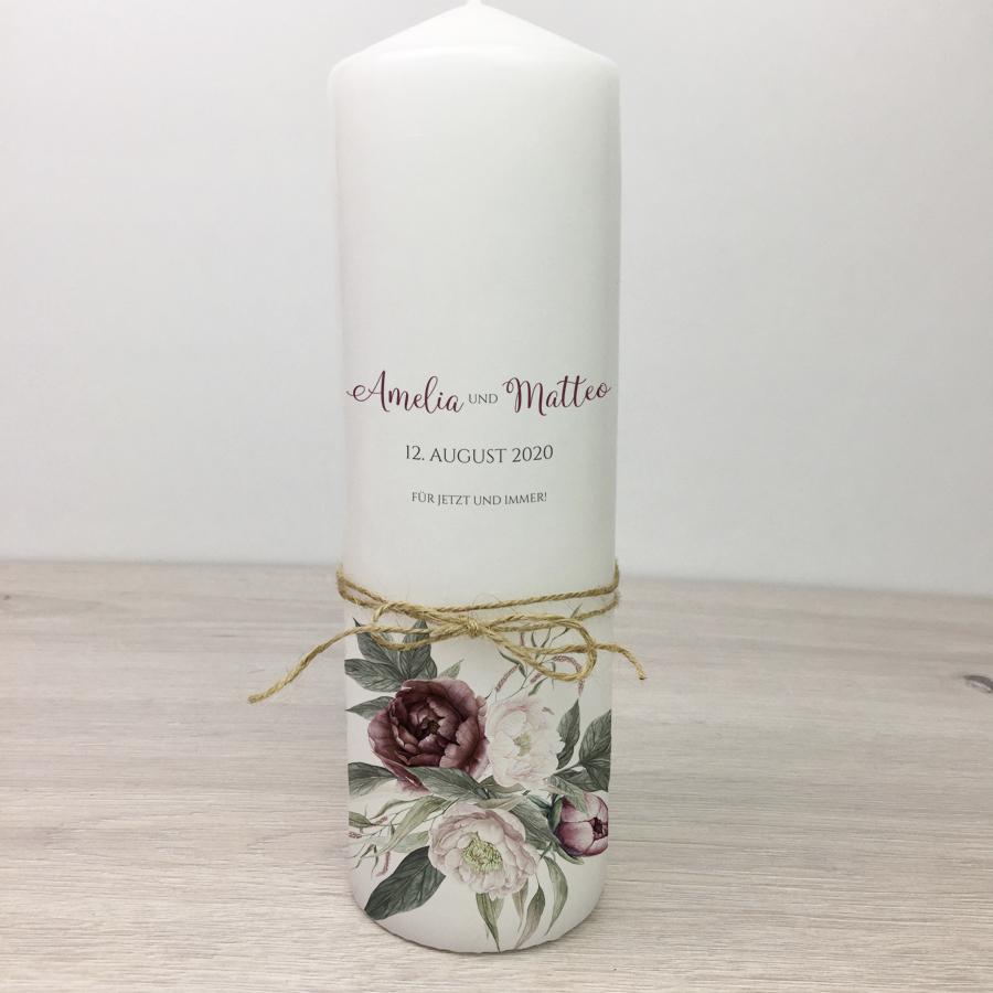 Hochzeitskerze - Blumen 53