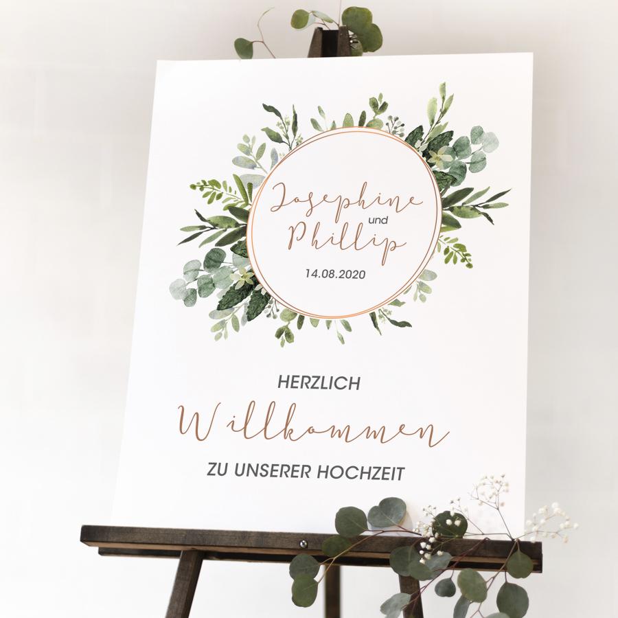 """Poster """"Willkommen"""" DIN A3 (58)"""