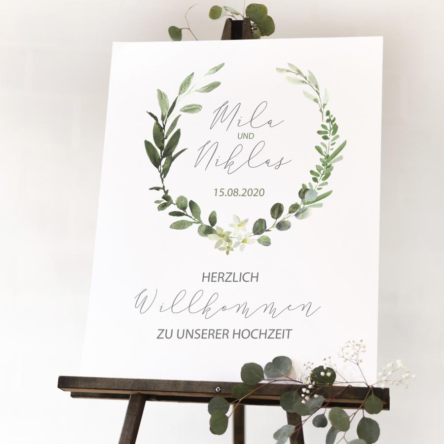 """Poster """"Willkommen"""" DIN A3 (59)"""