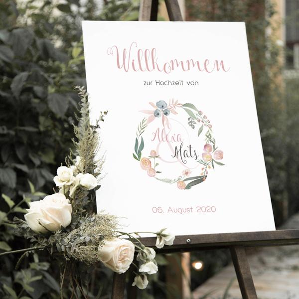 """Poster """"Willkommen"""" DIN A3 (05)"""