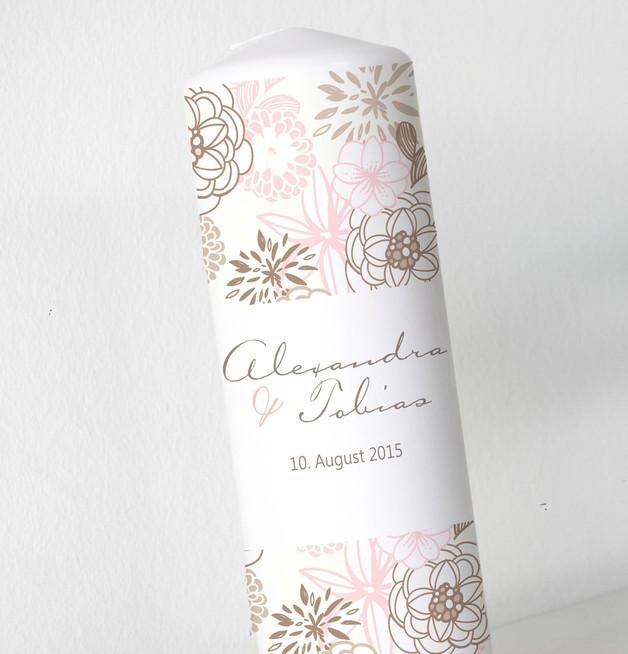 Hochzeitskerze - Blumenbanderole 3