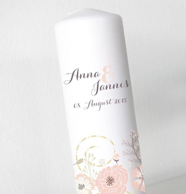 Hochzeitskerze - Blumenbanderole 4