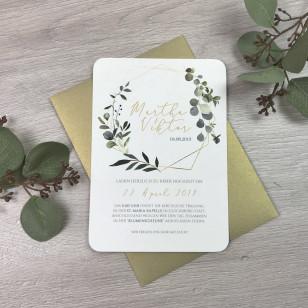 Einladung - Eukalyptus & Gold