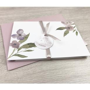 Einladung - Blumen Aquarell