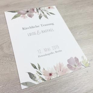Deckblatt Kirchenheft - Blumen Pastell