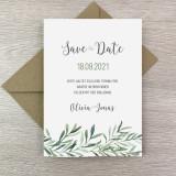 Save the Date Karte - Serie 57 - A6 mit Briefumschlag