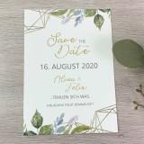 Save the Date Karte - Serie 60 - A6 mit Briefumschlag