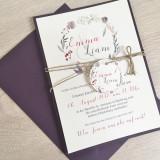 Einladung - Vintage/Blumen VII