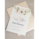 Save the Date Karte - Vintage/Blumen VI