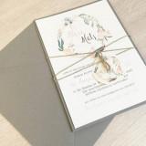 Einladung - Vintage/Blumen V