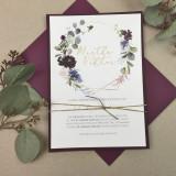 Einladung - Eukalyptus & Bordeaux