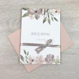 Einladung - Blumen Pastell