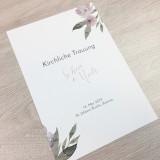 Deckblatt Kirchenheft - Aquarell Blumen