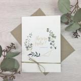 Einladung - Eukalyptus Klappkarte