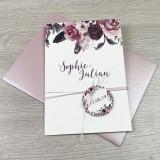 Einladung - Rosen & Federn - Misty Rose