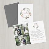 Danksagungskarte - Vintage/Blumen V - A6 inkl. Umschlag