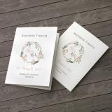 Deckblatt Kirchenheft - Vintage/Blumen V