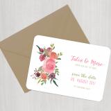 Save the Date Karte - Vintage/Boho/2018/Serie 22