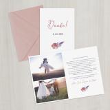 Danksagungskarte - Vintage/Boho/2018/Serie 4 - A6 inkl. Umschlag