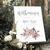 """Poster """"Willkommen"""" DIN A3 (23)"""