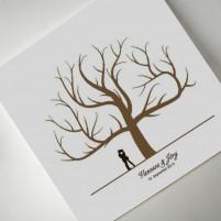 """Wedding-Tree Leinwand - verschiedene Größen """"Paar"""""""