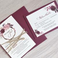 Einladung - Vintage/Blumen VIII