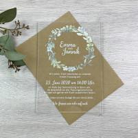 Einladung - Acryl & Eukalyptuskranz