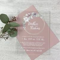 Einladung - Acryl & Blumenkranz