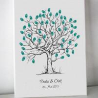 Wedding Tree-Gästebuch auf Leinwand 40x60 cm