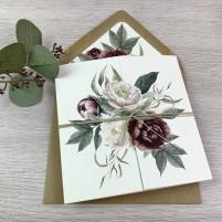 Einladung - Altarfalz & Blumen