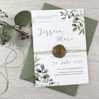 Einladung - Greenery & Gold