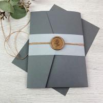 Einladung - Pocketkarte mit Siegel
