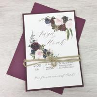 Einladung - Boho & Bordeaux