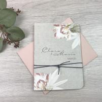 Einladung - Magnolien & Kraftpapier