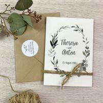 Einladung - Natur Klappkarte
