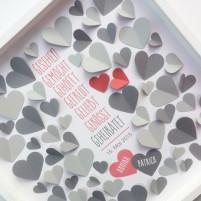 3D Gästebuch zur Hochzeit - Set zum Selberkleben