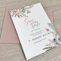 Save the Date Karte - Boho/Rosa