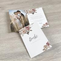 Danksagungskarte - Boho/Rustikal - A6 inkl. Umschlag