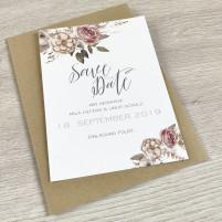 Save the Date Karte - Boho/Rustikal